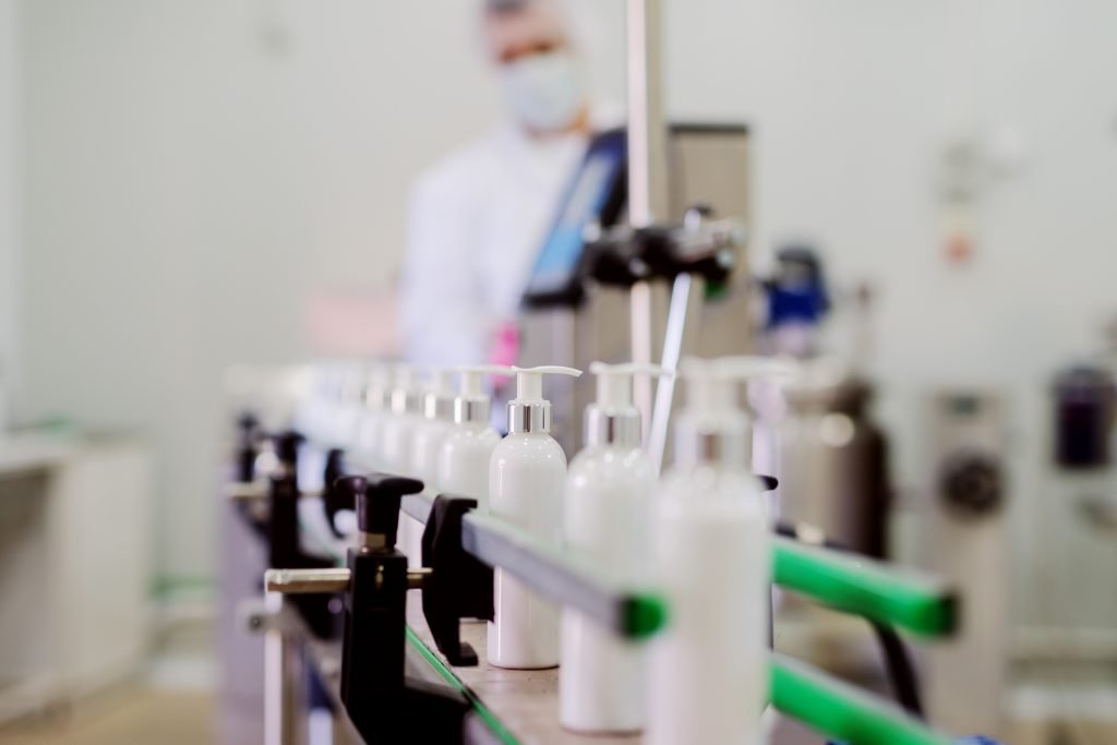 Manufacturing of cosmetics and personal care products