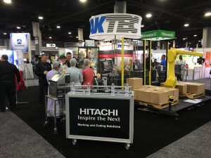 Complete end-of-line packaging solutions on display at the IPPE poultry and meat processing expo in Atlanta
