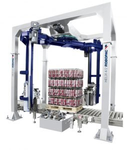 High speed automated stretch wrapper by Robopac