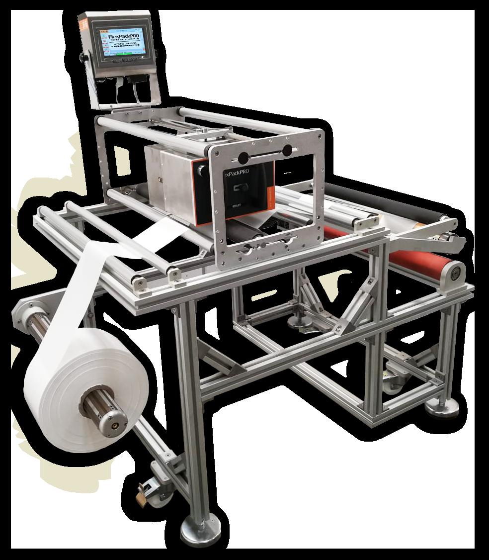 reel-to-reel packaging film printer