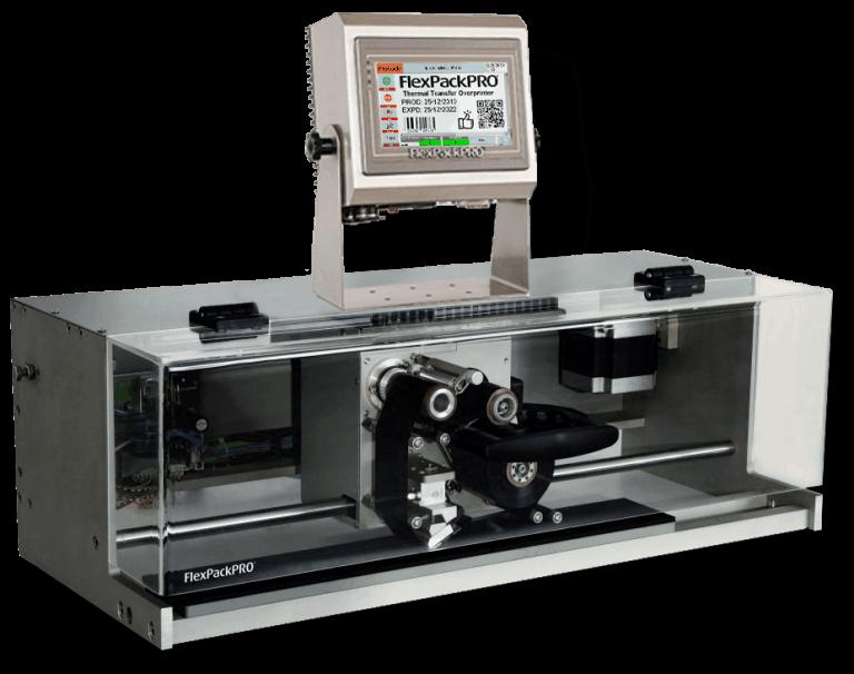 Traversing TTO Printer for multi-lane packaging lines