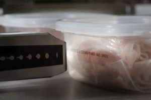 Hitachi Printting date code on tube of deli meat