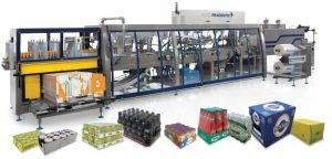 Combination case packer and shrink wrapper
